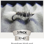 3pack_Bomber-Natural_Steelhead_Fly