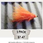 Alaskabou Volcano Steelhead Fly